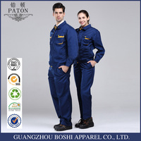 Navy Blue Work Uniform Coat And Pants For Out Doors Work Clothes