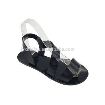 2018 Fashion Latest Designs Low Price Summer Beach Arabic Ladies Custom Slides Photo Wedge Jelly Sandals Women