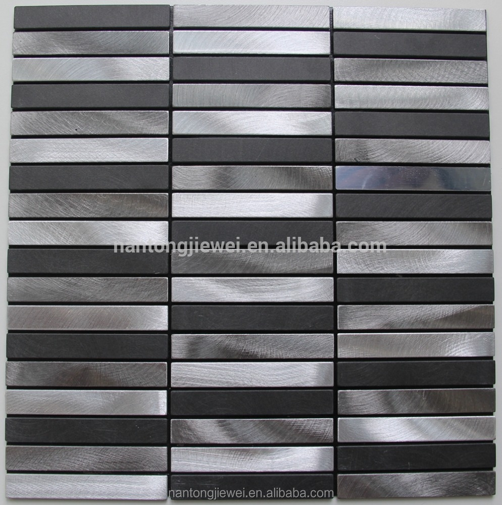 New design cheap Metal Mosaic Tile Made In Foshan Stainless Steel Mosaic