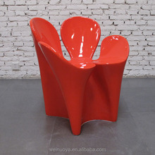 Fiberglass Clover Chair with Various Colors and High Gloss Finishing for Living Room Furniture Customized Furniture