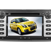"Wince 6.0 Two DIN 7""LCD-TFT touch screen with gps navigation cheap car DVD Mp3/Mp4/Mp5 player for Suzuki Swift"
