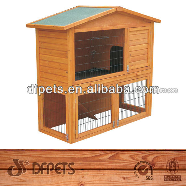 Good Design Wooden Rabbit House With Run DFR048