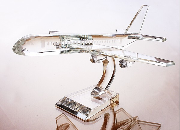 cheap glass crystal 3d passenger airplanes models