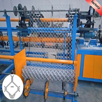 Easy operating used fully-automatic chain link fence machine with compactor and twisted edge