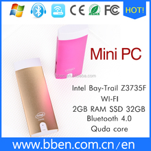 Competitve price new product mini pc Intel baytrail quadcore Z3735F dual OS Android