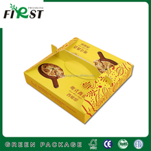 custom paper packaging fried chicken box/Customized disposable chicken paper packaging take away fried chicken box