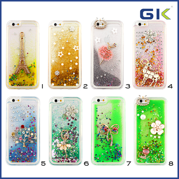 [GGIT] Fashion DIY Acceessories TPU Cover Liquid Phone Case For IPhone 6