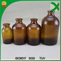 100ml amber glass penicillin bottle, molded injection vials wholesale