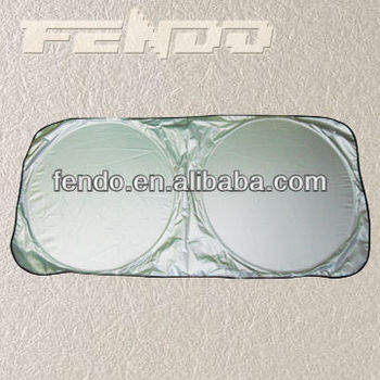 Nylon Double Circles Fordable Ccar Windshield Sunshade