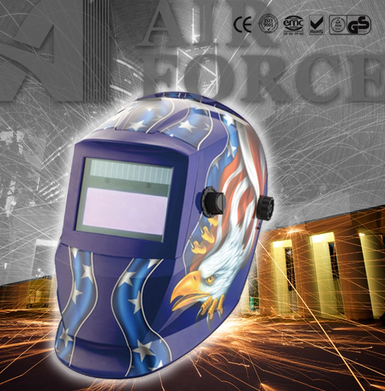 AF L550S-7 Auto darkening welding mask Dust Respirator with auto-darkening welding helmet