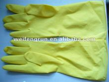unlined/flock lined dish washing household gloves/thick rubber gloves