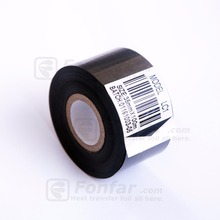 35mm LC1 type 100meter black color hot coding foil barcode printer ribbon Golden Dating Foil for PVC and PET Film with Printing