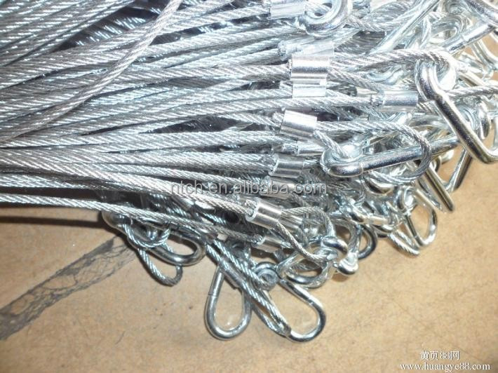 DIN3055 pvc coated galvanized steel wire rope