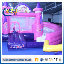2017 Hot selling inflatable bouncy castle with water slide
