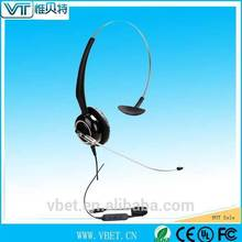 public telephone headphone Headset Dual Headphones Call Center with 3.5mm jack