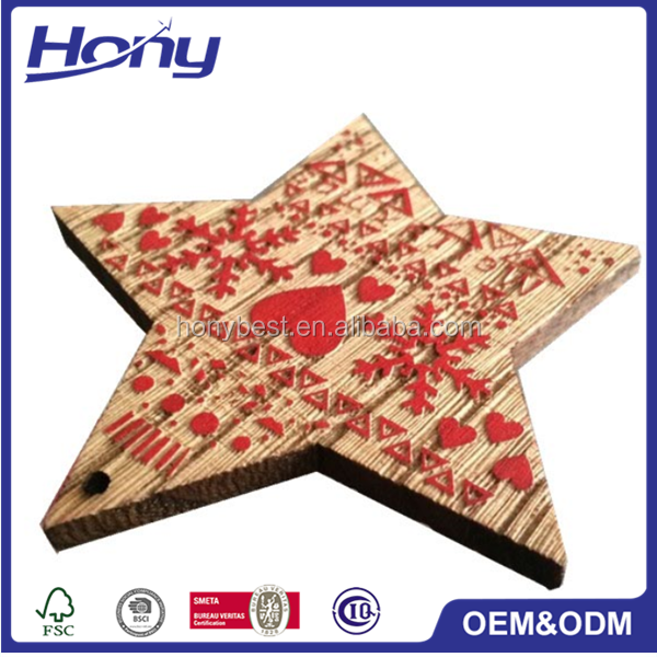 Laser Cut Wood Star Wall Home Decor,Christmas Gift Garden Yard Decoration for Outdoor