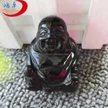 Wholesale hand carved gemstone laughing buddha statue