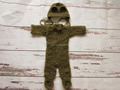 Baby Mohair Romper Hat Set Newborn Photo Props