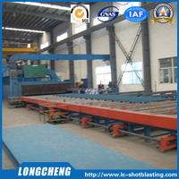 Roller Conveyor Pass Through Type Shot / Sand Blasting Machine For Channel Steel