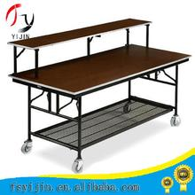 Hotel used durable folding leg rental folding table pvc