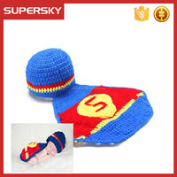 K-120 baby photo prop crochet superman hat children hat knitted animal handmade beanies caps