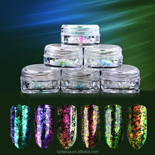 Chameleon glass irregular flakes Used In Cosmetic Pigment,mirror effect pigment for nail polish