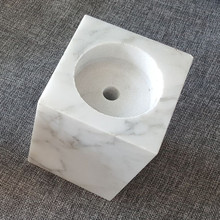 Genuine marble stone base for lamp or trophy