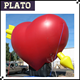 atractive advertising giant inflatable valentine heart