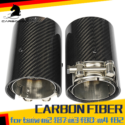 DIRECT INSTALL CARBON EXHAUST TIPS FOR BMW M4 F82 F83 M3 F80 M2 F87