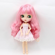 Custom amercian pink mix white hair nude baby doll head action figure factory