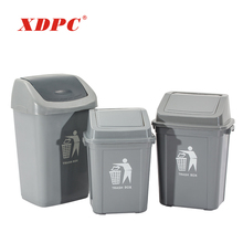 Plastic dustbin supplier shopping mall hotel trash can 20 liter 20l garbage waste pp bin with lid