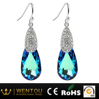 Diamond Dangler Earrings Crystal Bridal Earrings Women Alloy Earrings