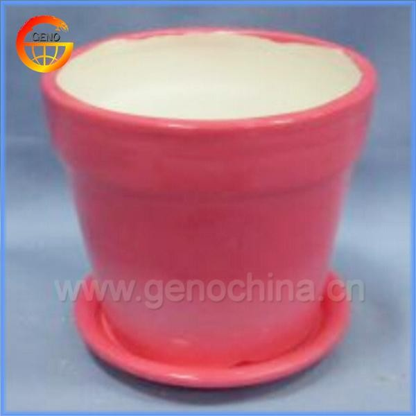 Customed tea cup and saucer flower pot