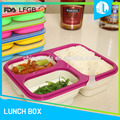 Easy to clean silicone material storage dry food container