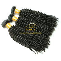 FMT Professional Skill Peruvian Kinky Curl Hair Weft, 9A Grade Virgin Remy Raw Human Hair