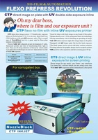 CTP machine for no film plate making