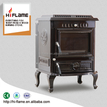 NEW Olymberyl HF443BE brown enamel 18kw cast iron wood burning stove with water jacket boiler