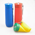 OEM Travel sport silicone water bottle Food Grade collapsible Customized gift silicone water bottles