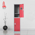 practical red single wide college school gym metal steel locker with 2 door