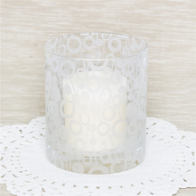 Handmade decorative glass froested pattern candle cup home hotel frosted sticker candle holder