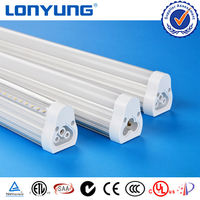 DLC ETL Integrative tube T5 retrofit fluorescent fixture 110v\220v\240v 18w led lamps
