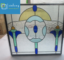 tiffany style stained glass clear window panel