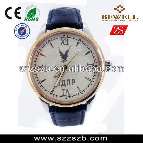 2015 hot sale stainless steel blue japan movt quartz watch