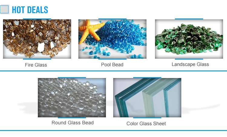 Blue recycled crushed mirror glass