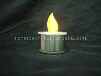 Battery LED Candle (Aluminum cylindrical)