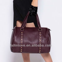 2014 latest design bags women handbag lady handbag new punk fashion brand design PU bags manufacture
