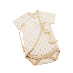 China Express Especial Material Summer 100% Organic Cotton Short Sleeve Newborn Clothes Baby Romper