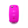 Hot sale silicone rubber car key cover for vw protective 3 button remote key cover silicone