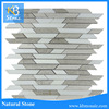 Grey Wooden Veins marble mixed white mosaic tiles,white wooden marble