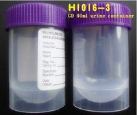 disposable Urine Container 40ml Conical Bottom